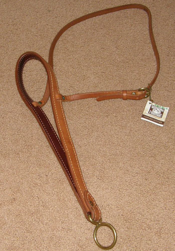 Western Heritage Harness Leather Tie Down Noseband Tiedown Noseband Roper Noseband Chestnut Horse
