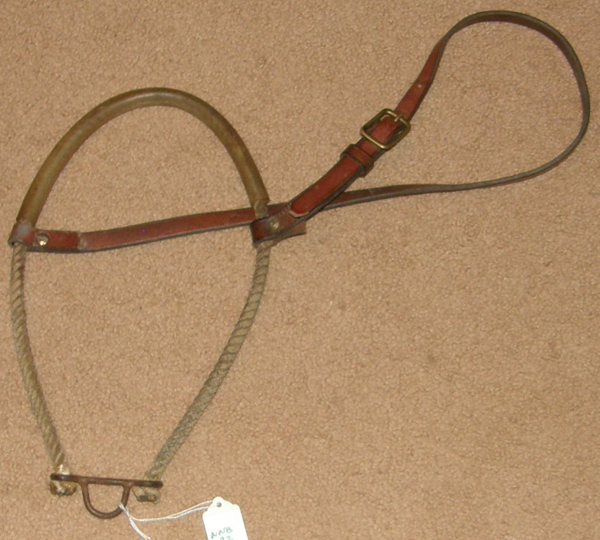 Tie Down Rope Noseband Rubber Covered Waxed Rope Tiedown Noseband Western Training Noseband Horse