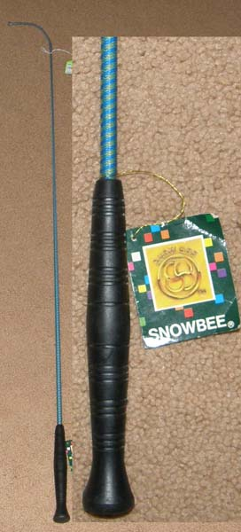 "Snowbee 43"" Dressage Whip Snow Bee Training Whip Driving Whip Blue/Yellow"