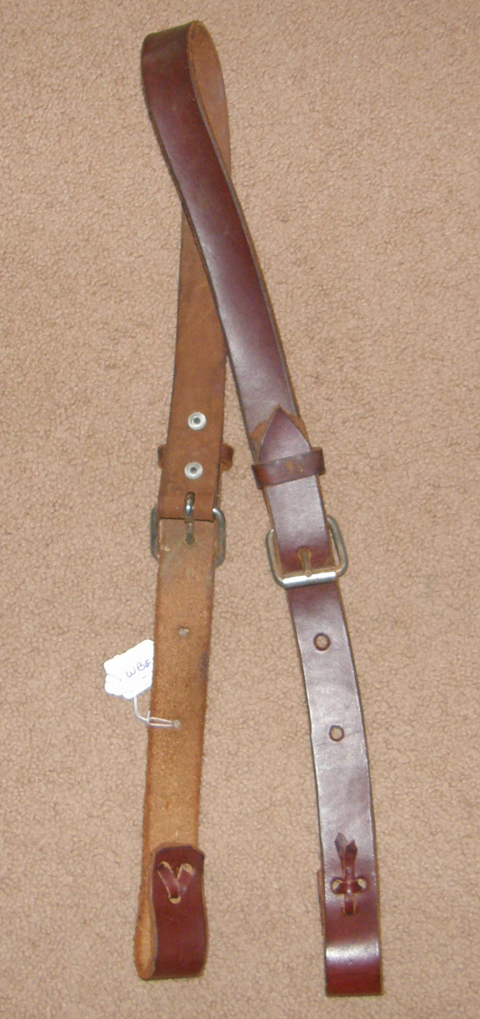 AceRugs Western Horse Saddle Back Cinch Flank Strap Rear Girth Leather Nutmeg Oil Billet Keeper