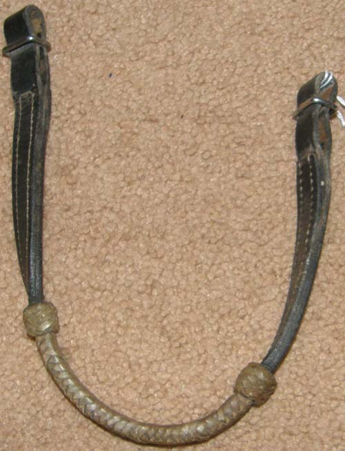 Doubled & Stitched Browband Braided Rawhide Trim Western Browband Dark Brown