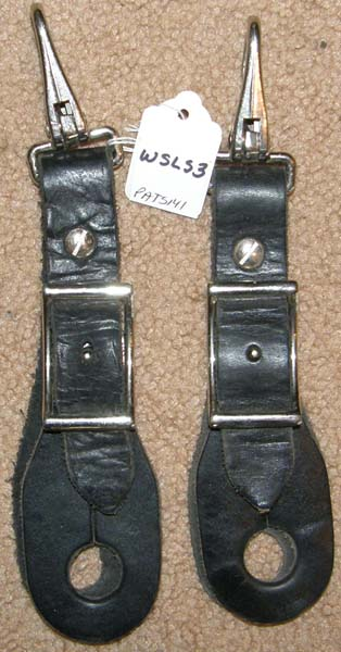 Slobber Straps Buckle On Style with Snaps Harness Leather Conway Buckle Rope Rein Ends