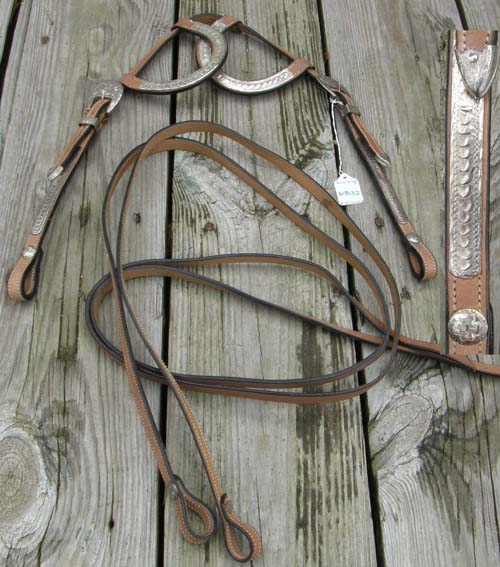 Royal King? Sliding Silver Double Ear Western Headstall Split Reins Silver Trim Silver Buckles Western Show Bridle Silver Ear Western Bridle Lt Oil Horse
