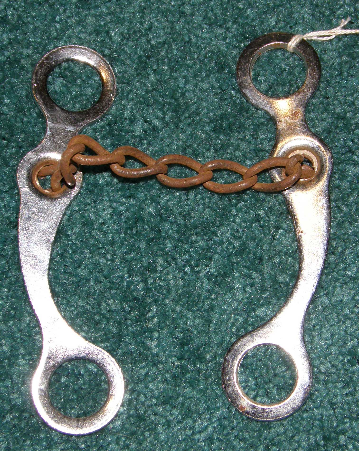 Chain Mouth Curb Bit Sweet Iron Chain Roping Bit Western Curb Bit or Make Your Own Curb Bit Replacement Bit Shanks