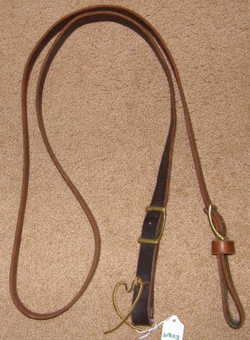 "Russet Leather Roping Reins Gaming Reins Western Reins 1"" x 7'"