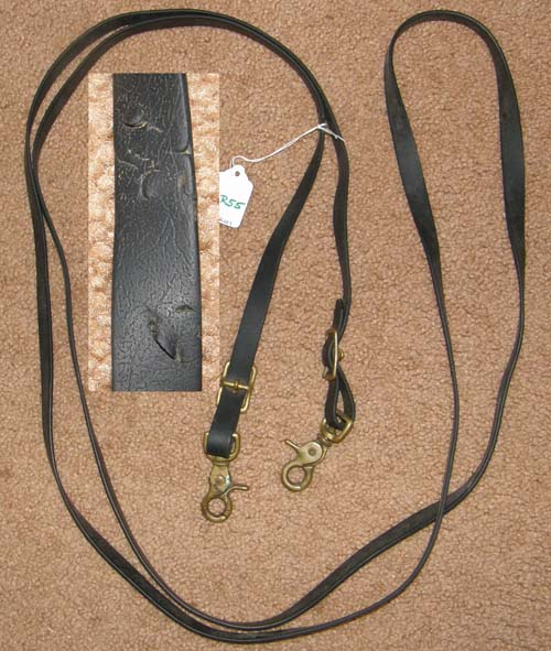 "Beta Biothane English Reins Endurance Reins Gaming Reins Western Synthetic Trail Reins Snap Ends Race Reins Snaps 5/8"" x 9 1/2' Black"