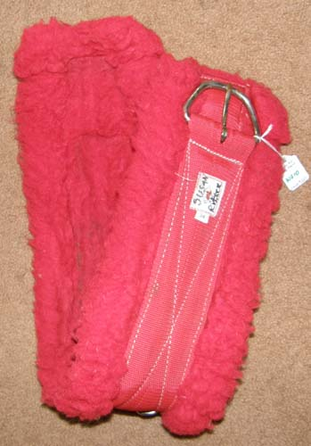 "Tuffy Fleece Western Girth Fleece Western Cinch Red 30"" 33"""