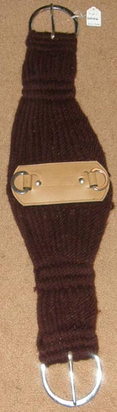 "Tough-1 King Series Double Woven Roper Cinch Western Girth 27 Strand Western String Girth Western Cinch 31"" Brown"