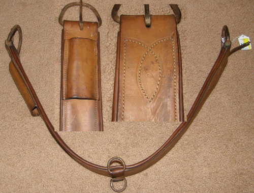 "Tory Leather Western Girth Western Cinch 34"" Lt Oil"