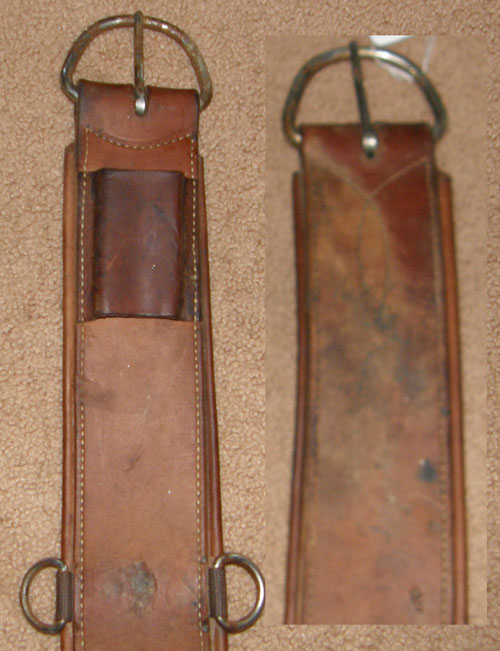 "Leather Western Girth Western Cinch 29"" Brown"
