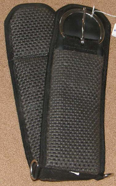 "Waffle Weave Neoprene Western Girth Padded Non Slip Breathable Western Cinch 30"" Black"