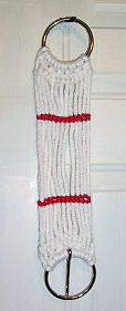 "Western Cinch 13 Strand Rope Cinch 36"" Western String Girth White/Red"