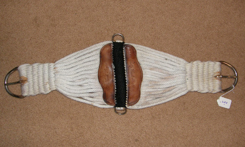 Billy Cook Western String Girth 27 Strand Roper Cinch Roper Girth Western Cinch White 29""