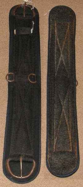 "Tory Felt Lined Western Cinch Synthetic Western Girth 29"" Black"