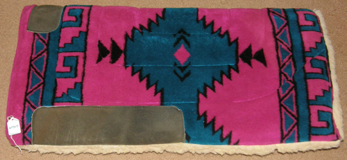 Thick Fleece Western Saddle Pad Western Pad Square Fleece Pad Pink/Teal/Black Southwestern Print 32x30