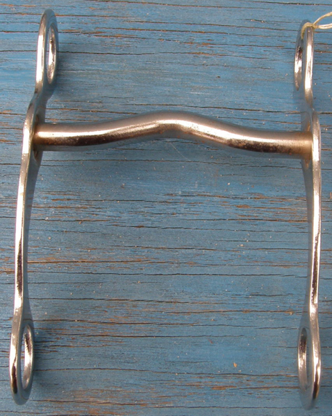 "4 1/4"" Low Medium Port Curb Bit Chrome Plated Western Curb Bit"