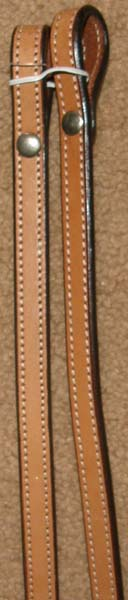 "Royal King Western Reins Leather Show Reins Western Split Reins 5/8"" x 6 1/2' Lt Oil Dark Oil"