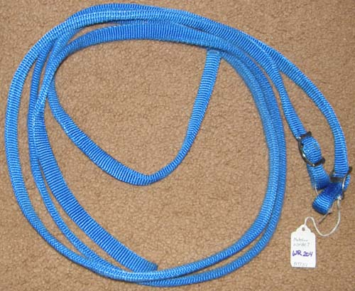 "Weaver? Nylon Western Reins Synthetic Western Split Reins Pony Reins Blue 5/8"" x 5 1/2'"