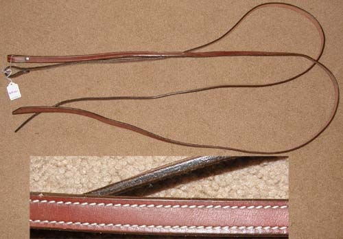 "Leather Split Western Reins Western Split Reins 5/8"" x 6' Chestnut"