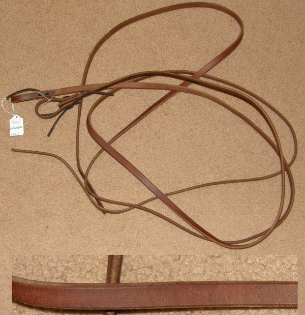 "Weaver? Shutz Bros? Western Reins Harness Leather Western Split Reins Water Loops Russet 1/2"" x 7 1/2'"