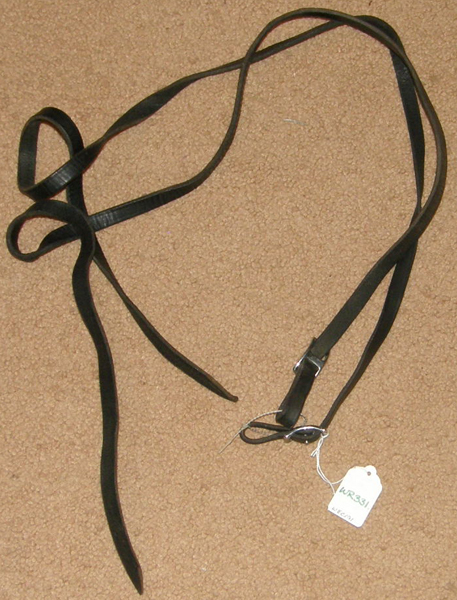 "Leather Western Split Reins Western Reins 1/2"" x 3 1/2' Black Mini Pony Reins"
