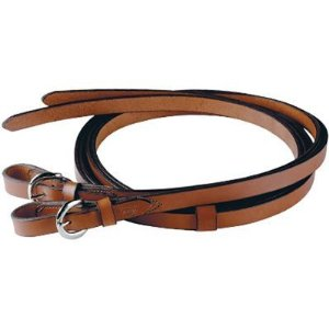 "Tory Western Reins Buckle Ends Western Split Reins 5/8"" x 7' Dark Chestnut Leather"