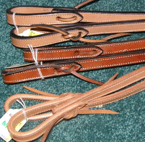 "Royal King Western Reins Western Split Reins Lt Oil Chestnut Leather Reins 5/8"" x 6'"