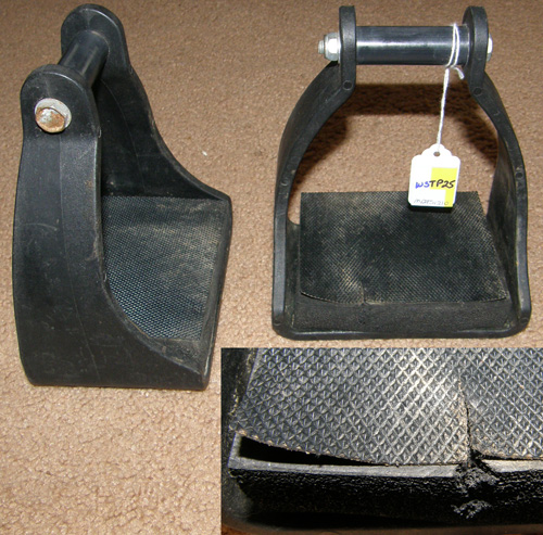 Poly Wide Endurance Stirrups Western Stirrups with Foam Pads Black